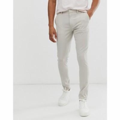 エイソス ASOS DESIGN メンズ スキニー・スリム ボトムス・パンツ super skinny smart trousers in ice grey アイスグレー
