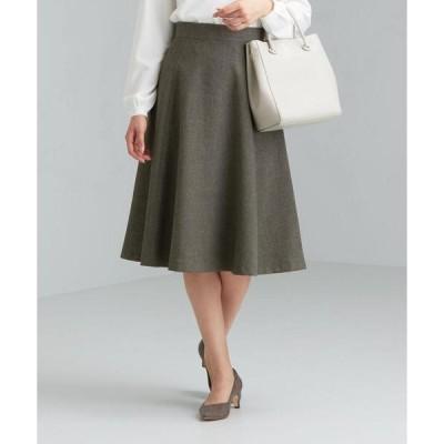 スカート CS monable シャークスキン フレア スカート