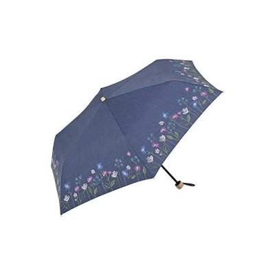 折傘 晴雨兼用 50cm フラワーブルーム ミニ BE-09066 ネイビー
