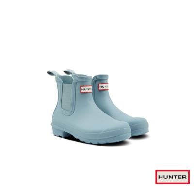 HUNTER - 女鞋 - 新版切爾西霧面踝靴 -湖水藍