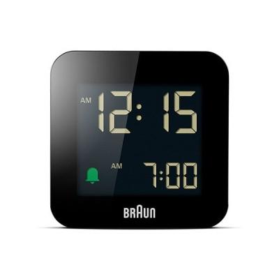 ブラウン BRAUN 先着でペンシルプレゼント 目覚まし時計 置き時計 BC08B デジタル アラーム 角型ブラック 幅5.75cm 正規品