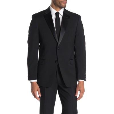 トミー ヒルフィガー メンズ ジャケット&ブルゾン アウター Slim Fit Wool Blend Suit Separate Jacket BLACK