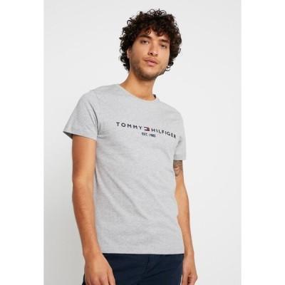 トミー ヒルフィガー Tシャツ メンズ トップス LOGO TEE - Print T-shirt - grey
