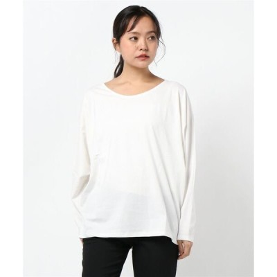 tシャツ Tシャツ コットン100%ドルマン袖ゆったりカットソートップス