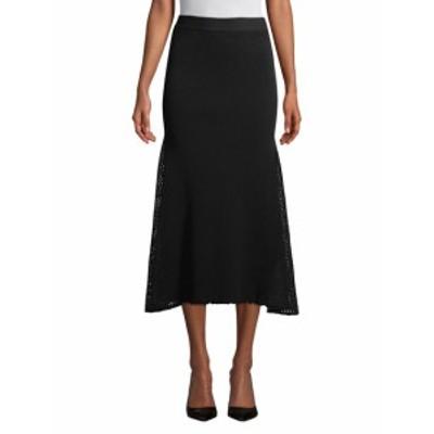 デレクラム レディース スカート Ribbed & Mesh Long Skirt