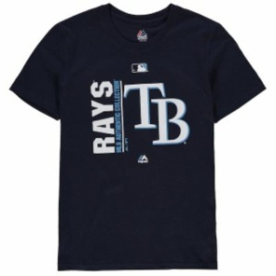 Majestic マジェスティック スポーツ用品  Majestic Tampa Bay Rays Youth Navy Authentic Collection Team Icon T-Shirt