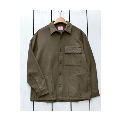 BIG MIKE ビッグマイク ヘビーフランネルシャツ カーキ  Heavy Flannel LS Solid Shirts Khaki 無地 セットアップ対応 サイドポケット 裏起毛