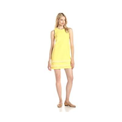 Shoshanna レディース Gemi Fringed Jacquard Shift ドレス, Limoncello, 12(海外取寄せ品)