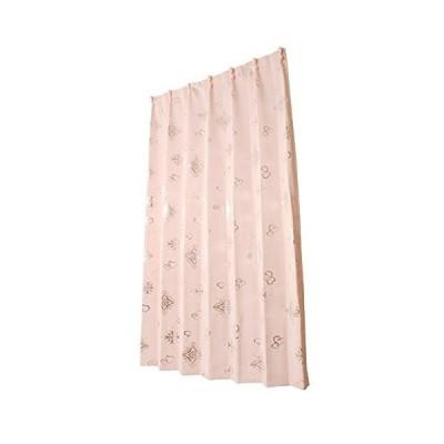 ユニベール ドレープカーテン アリッサ ピンク 幅100×丈135cm 2枚組