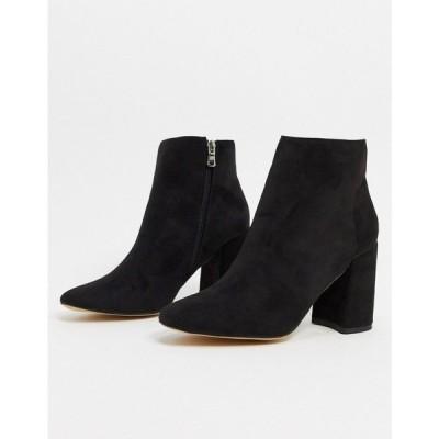 ロンドン レーベル London Rebel レディース ブーツ ショートブーツ シューズ・靴 heeled ankle boots in black ブラック