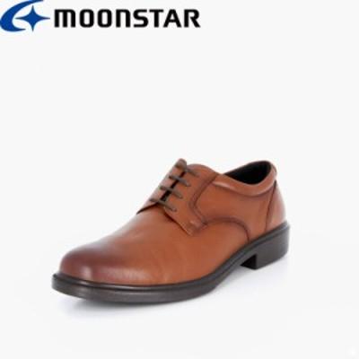 送料無料 ムーンスター メンズ ビジネスシューズ 靴 SPH4940 ブラウン 軽量 本革 国産 高機能 ビジネス