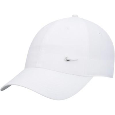 ナイキ メンズ 帽子 アクセサリー Nike H86 Metal Swoosh Adjustable Hat White