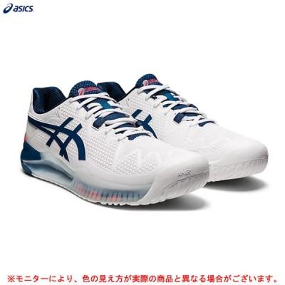 ASICS(アシックス)GEL-RESOLUTION 8 WIDE ゲルレゾリューション 8 ワイド(1041A113)テニス オールコート用 テニスシューズ メンズ