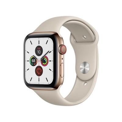 MWWH2J/A [ゴールドステンレススチールケース/ストーンスポーツバンド] Apple Watch Series 5 GPS+Cellularモデル 44mm ウェアラブル端末・スマートウォッチ