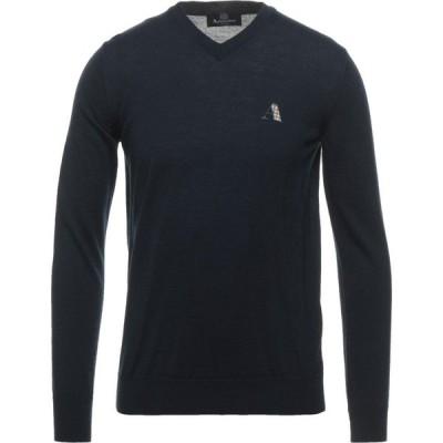 アクアスキュータム AQUASCUTUM メンズ ニット・セーター トップス Sweater Dark blue