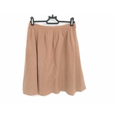 バーバリーブルーレーベル Burberry Blue Label スカート サイズ36 S レディース 美品 - ブラウン ひざ丈【中古】20201015