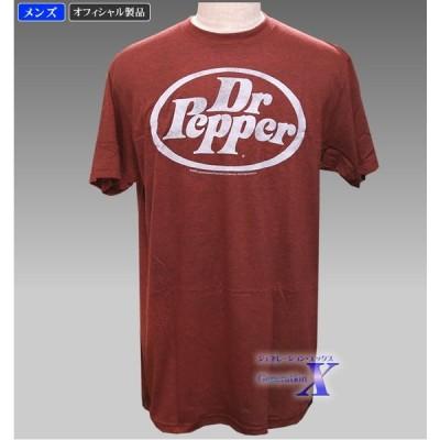 【Dr.Pepper ドクター・ペッパー・オフィシャルTシャツ】メンズ(ブラウン)