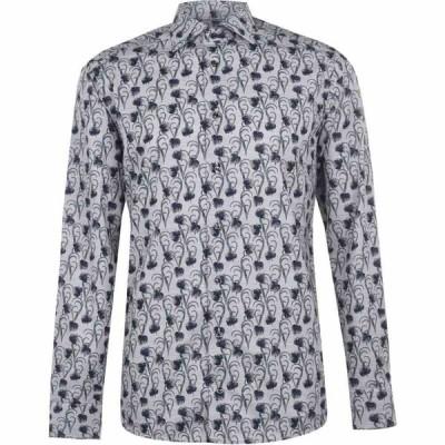 イートン Eton メンズ シャツ トップス Floral Print Shirt Grey