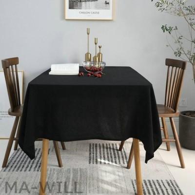 テーブル掛け 食卓カバー シック 綿麻 テーブルカバー おしゃれ 無地 ポリエステル繊維 綿麻 テーブル掛け 耐熱 水洗い 田園 喫茶店 テーブルクロス