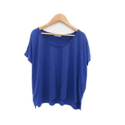 【中古】ビス ViS Tシャツ カットソー 半袖 ラウンドネック 無地 M ブルー /YK19 レディース 【ベクトル 古着】