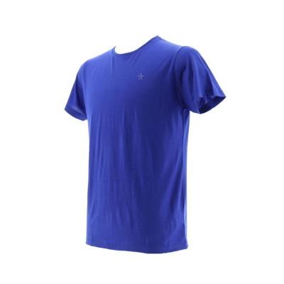 【マンシングウェア】 ウール天竺 半袖Tシャツ メンズ ブルー系 S Munsingwear