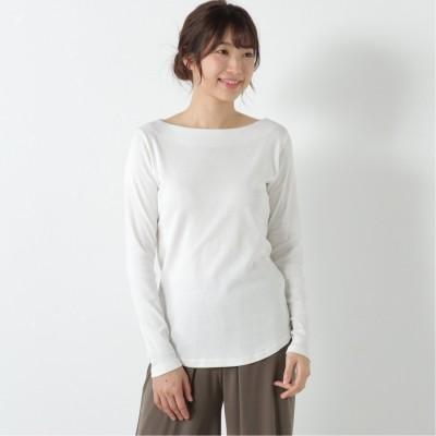 フライスボートネックTシャツ【M―4L】