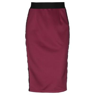 MARIA DI SOLE ひざ丈スカート ガーネット XS ポリエステル 96% / ポリウレタン 4% ひざ丈スカート