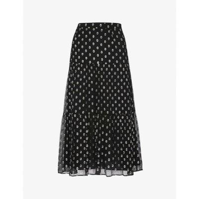 ホイッスルズ WHISTLES レディース ひざ丈スカート スカート Metallic dobby midi-length skirt BLACK/MULTI