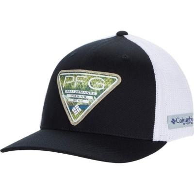 コロンビア Columbia レディース キャップ 帽子 PFG Mesh(TM) Seasonal Ball Cap Black/White/Triangle Patch