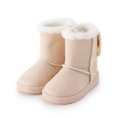 SHOO・LA・RUE / 【15-19cm】フェイクムートンリボンブーツ KIDS シューズ > ブーツ