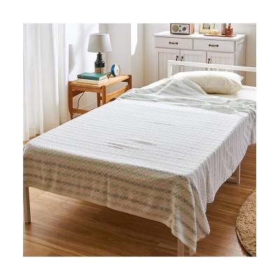 綿100%のタオルケット(ボーダー) タオルケット・肌掛け布団・キルトケット, Beddings, 寝具(ニッセン、nissen)
