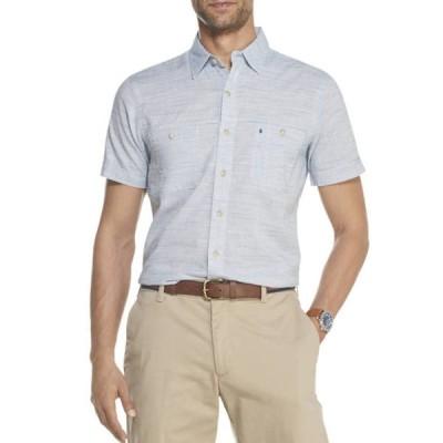 アイゾッド メンズ シャツ トップス  Dockside Chambray Short Sleeve Button Down Shirt