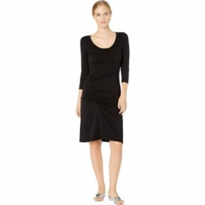 マイケルスターズ Michael Stars レディース ワンピース ワンピース・ドレス Cotton Lycra Tina 3/4 Sleeve Ruched Dress Black