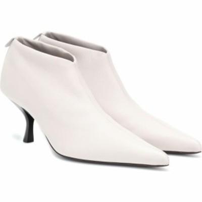 ザ ロウ The Row レディース ブーツ ショートブーツ シューズ・靴 bourgeoise leather ankle boots Pearl Grey