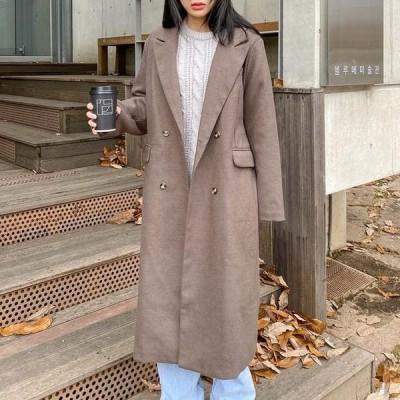 レディース コート Nest quilted double long coat