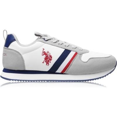 ユーエスポロアッスン US Polo Assn メンズ シューズ・靴 Nobil Trainers White WHI