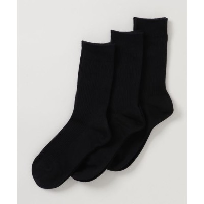 cecile / 定番リブソックス 3足組 20cm丈 WOMEN レッグウェア > ソックス/靴下