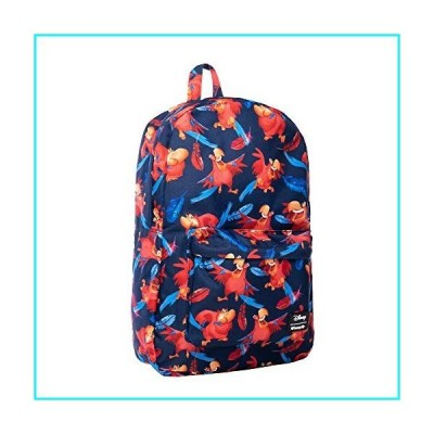 Loungefly x Disney Aladdin Iago Print Nylon Backpack (Multicolored, One Size)