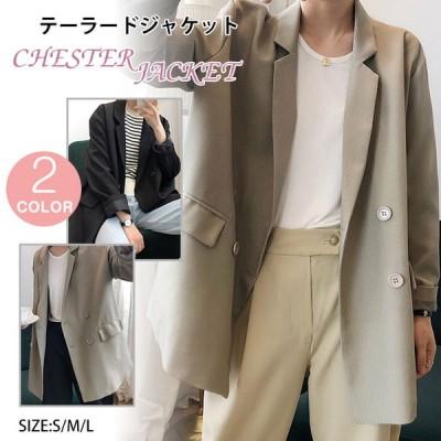 テーラードジャケット レディース コート 着痩せ アウター ライトアウター カジュアル 長袖