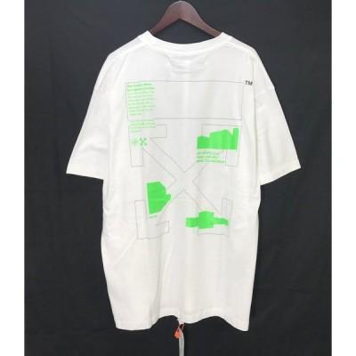 オフホワイト Arch Sape T-Shirt 20SS 半袖 Tシャツ 袋有り タグ 蛍光デザイン 新品同様 メンズ Mサイズ ホワイト Off-White トップス A3967◆