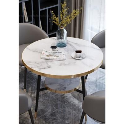 超実用 北欧風 コーヒーテーブル ラウンド サイドテーブル サイドシェルフ 豪華 玄関 大理石柄 飾り台