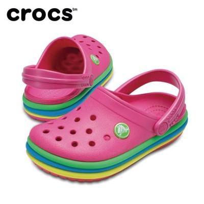 クロックス crocs サンダル ジュニア crocband rainbow band clog kids クロックバンド レインボー バンド クロッグ キッズ 205205