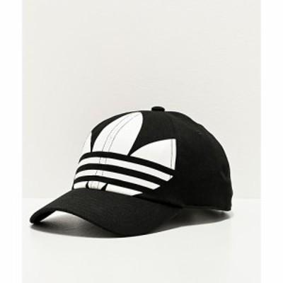 アディダス ADIDAS メンズ キャップ スナップバック 帽子 adidas Originals Relaxed Big Trefoil Black and White Strapback Hat Black