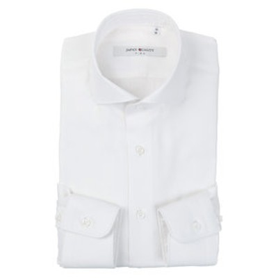 ▽【JAPAN QUALITY】ホリゾンタルカラードレスシャツ 織柄