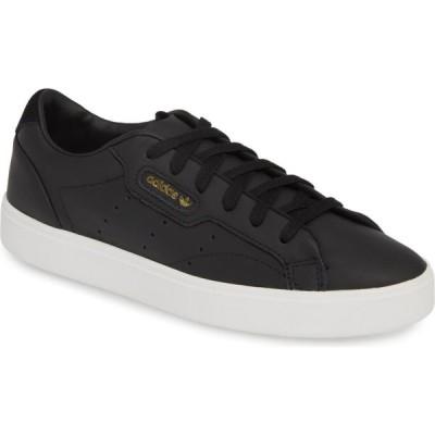 アディダス ADIDAS レディース スニーカー シューズ・靴 Sleek Leather Sneaker Core Black/Crystal White
