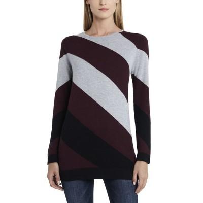 ヴィンスカムート ニット&セーター アウター レディース Women's Color Block Asymmetrical Stripe Sweater Port