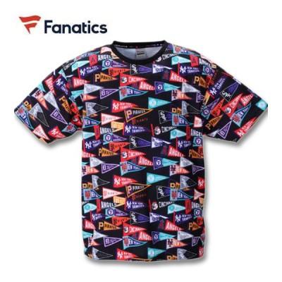 大きいサイズ メンズ Fanatics MLBフラッグ総柄プリント半袖Tシャツ 3L 4L 5L 6L