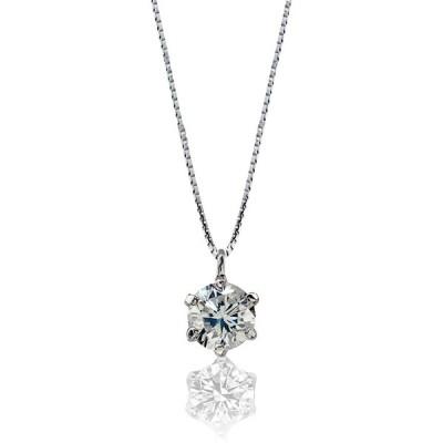 ミワホウセキ miwahouseki プラチナ 0.2カラット 美しく 輝く 一粒 ダイヤモンド ネックレス 鑑別 ミニカード付き 6665