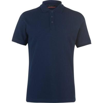 ピエール カルダン Pierre Cardin メンズ ポロシャツ トップス Plain Polo Shirt Navy