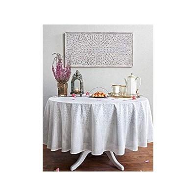 Saffron Marigold Royal Mansour ~ Moroccan Lattice Trellis White Round Table